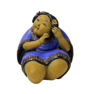 Chinese Oriental Ceramic Modern Art Decor Style Lady Figure