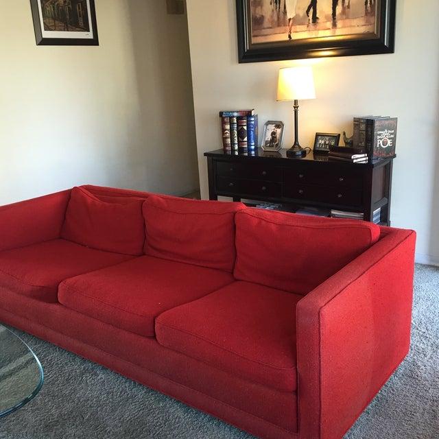 Mid-Century Red Sofa - Image 3 of 5