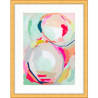 """""""He and I"""" Gold Framed Print With White Mat"""