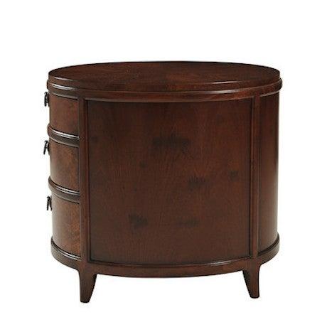 Myrtle Burl Oval Side Table - Image 4 of 6
