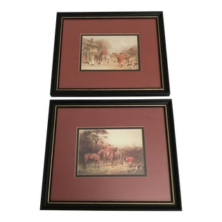 Framed Countryside Equestrian Prints - A Pair