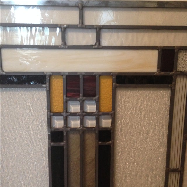 Craftsman Style Stained Glass Panel - Image 6 of 10