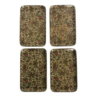 Japanese Floral Luncheon Trays - Set of 4