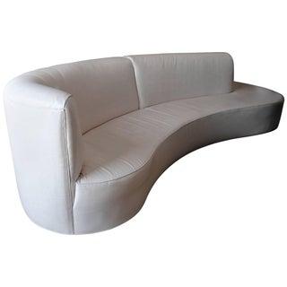 Monumental Kagan Style White Sofa