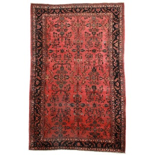 RugsinDallas Antique Hand Knotted Wool Persian Mahal Rug - 10′6″ × 16′8″