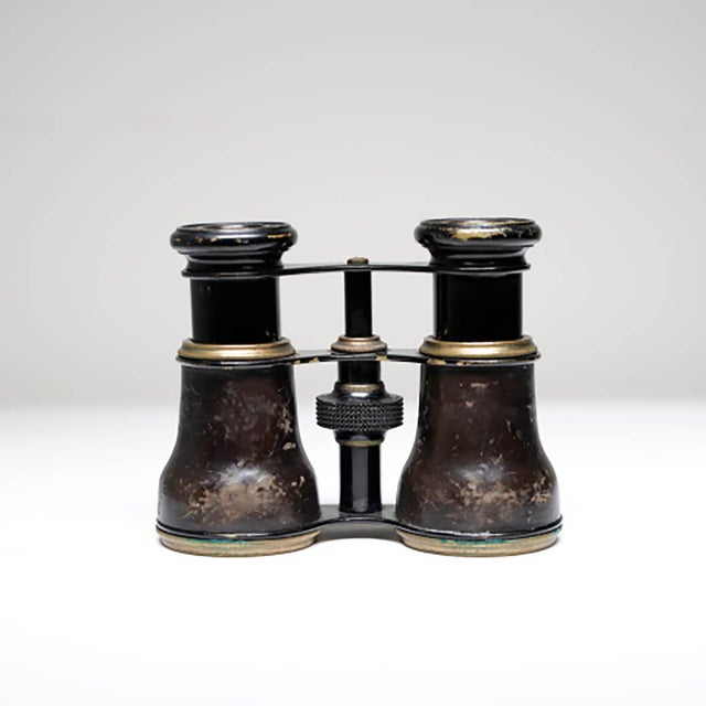 Image of 19th Century French Leather Wrapped Opera Glasses