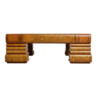 Maitland-Smith Oversized Embossed Leather Books Coffee Table