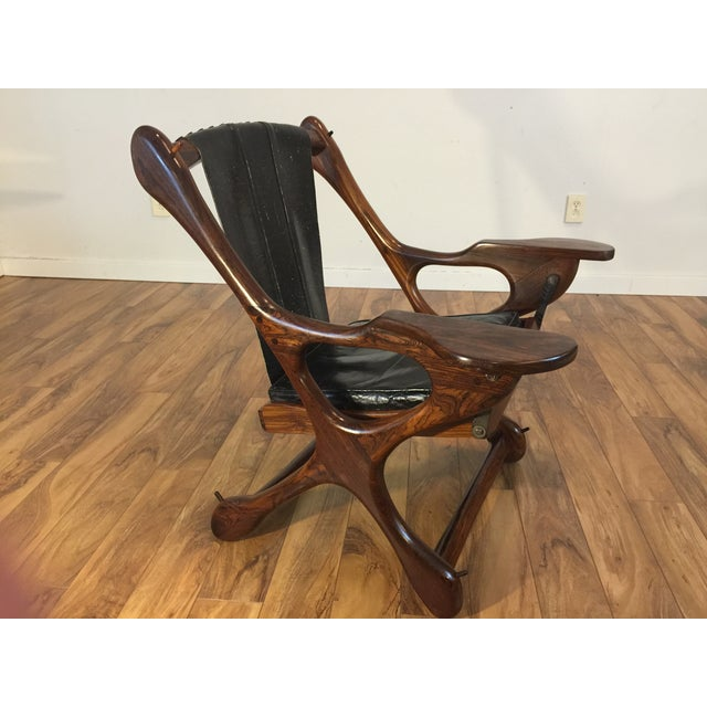 Don Shoemaker Studio Rosewood Swing Chair - Image 5 of 11
