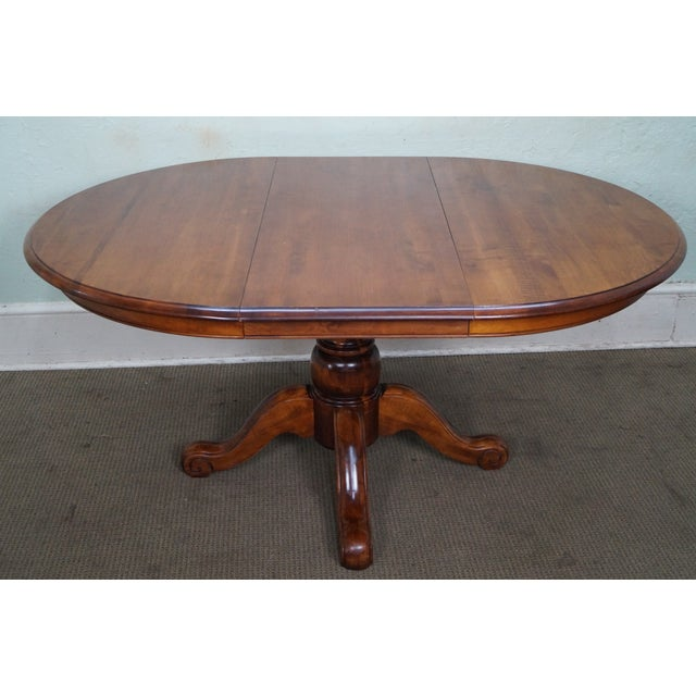 Ethan allen country crossings round pedestal dining table chairish - Ethan allen kitchen tables ...