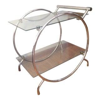 Mid-Century Milo Baughman Style Chrome Bar Cart