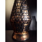 Image of Mid-Century Atomic Black and Gold Table Lamp