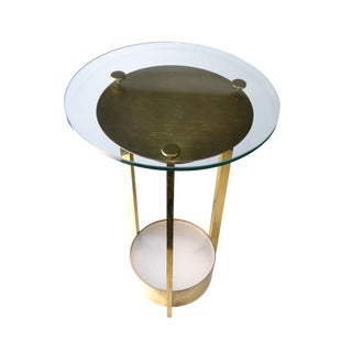 Dorothy Thorpe Illuminated Brass and Glass Side Table