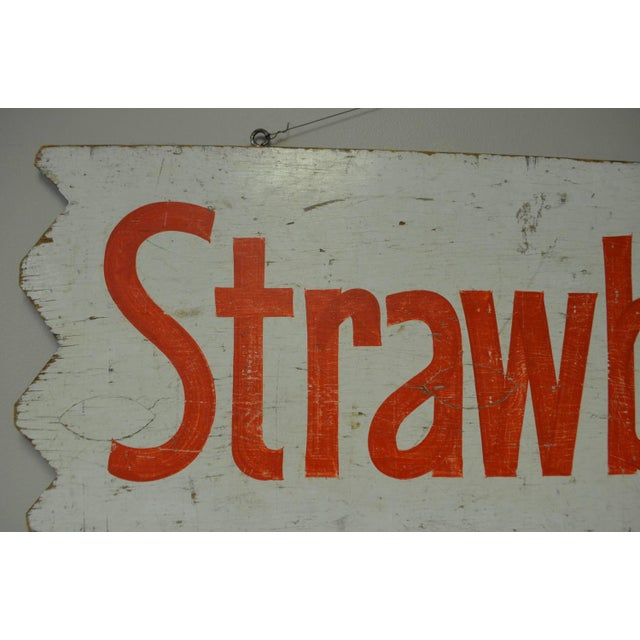 1950s Hand-Lettered Farm Produce Signs - Pair - Image 3 of 7