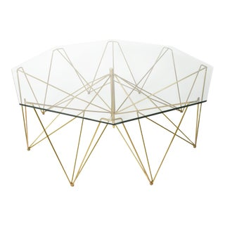 Sculptural Metal Coffee Table