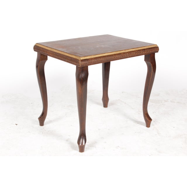 Queen Anne 1920s Gilt End Table - Image 3 of 7