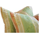 Image of Designer French Embroidered Silk Pillows - a Pair