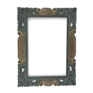East Asian Hand Carved Mirror Frame