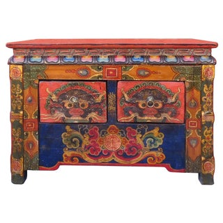 Chinese Tibetan Treasure Motif Small Cabinet