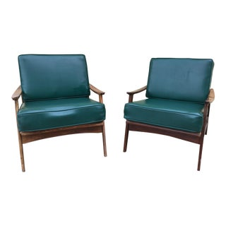 Mid-Century Danish Design Lounge Chairs - A Pair