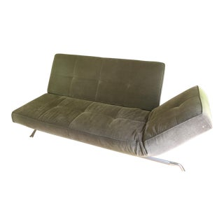 Ligne Rosen 'Smala' Gray Suede Sofa Bed