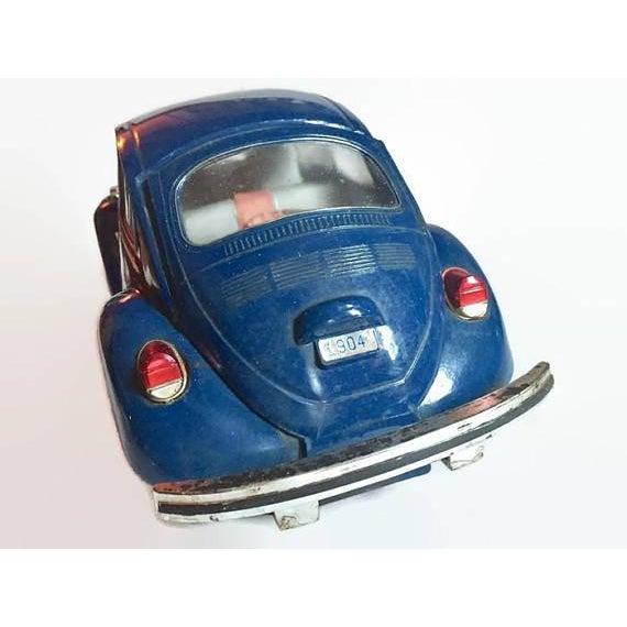 Vintage Volkswagen Beetle Decanter Jim Beam Collectible Metal VW Bug - Image 7 of 10