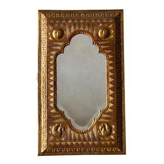 Copper Repoussé Beveled Mirror