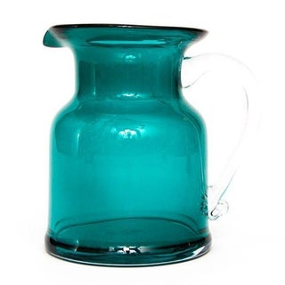 Teal Glass Cocktail Pitcher