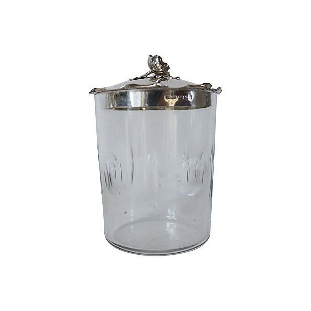 Image of Sterling Silver & Crystal Honey Pot