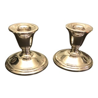 Mid-Century Sterling Silver Candlesticks