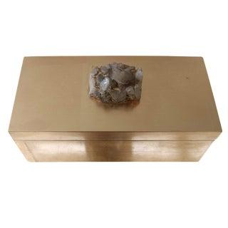 Large Gold Box with Quartz