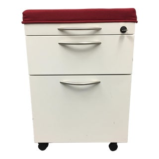 Mobile File Cabinet With Cushion, Lock & Key