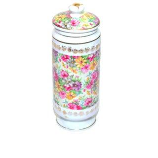 Vintage Porcelain Chintz Biscuit Jar