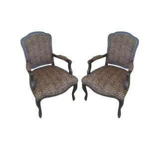 Leopard Print Accent Chair