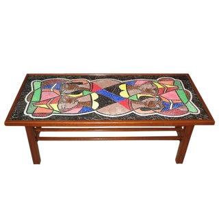 Danish Mid-Century Mosaic Glass Coffee Table