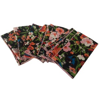 Vintage Fabric Floral Napkins - Set of 8