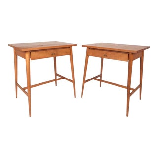 Maple Paul McCobb Mid-century Modern End Tables for Planner Group - a Pair