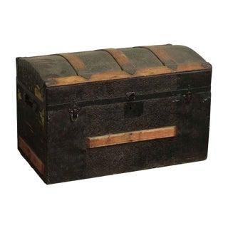 Antique Carved Wooden Trunk