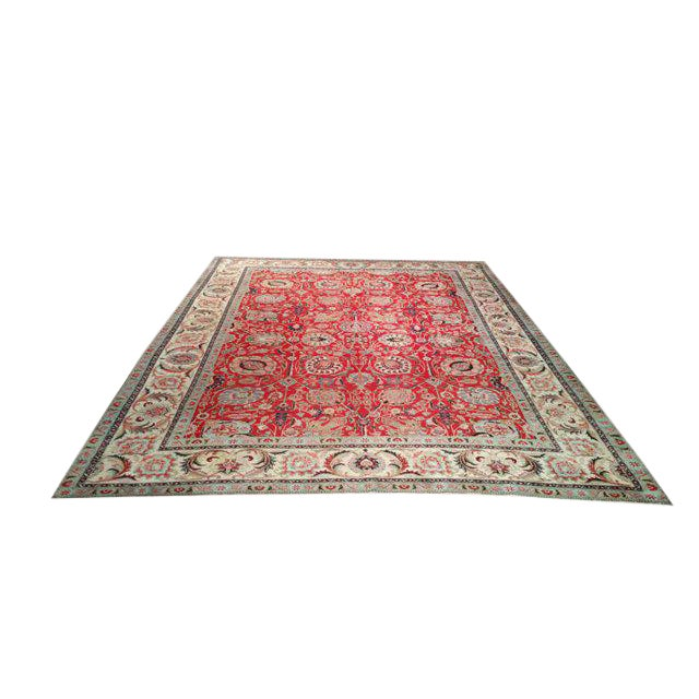 10′1″ X 13′2″ Persian Handmade Knotted Rug - Size Cat. 10x13 10x14 - Image 1 of 4