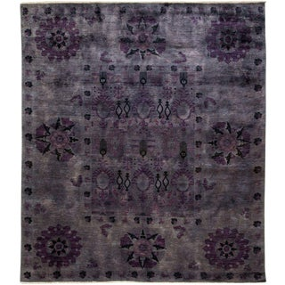 "Vibrance, Hand Knotted Area Rug - 8' 1"" x 9' 2"""