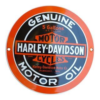 Enamel Harley Davidson Domed Sign