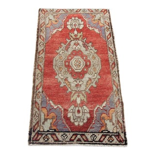 "Vintage Turkish Oushak Tribal Rug- 1'7"" x 2'10"""
