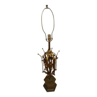 Renaissance Gothic Spanish Wrought Iron Lamp