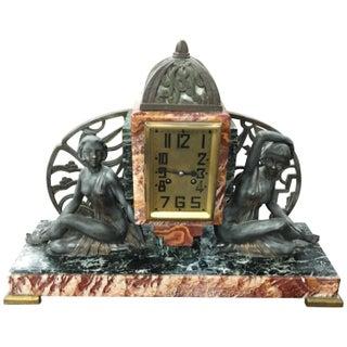 French Art Deco Figural Deco Girls Clock
