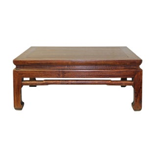 Brown Rosewood Simple Oriental Curved Legs Rectangular Display Table Stand