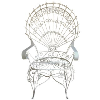 Iron Peacock Chair