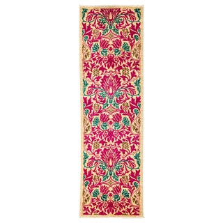 "Arts & Crafts Hand Knotted Runner - 2'7"" X 8'7"""
