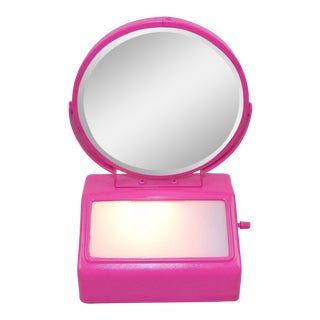 Pink Lighted Vanity Mirror