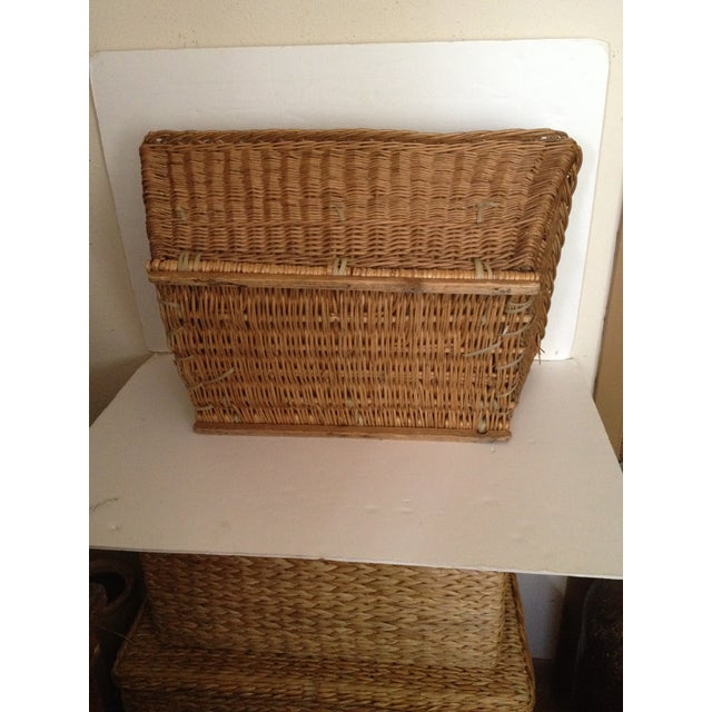 French Laundry Basket With Handles - Image 3 of 3