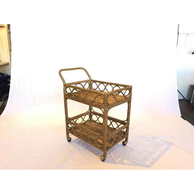 Regency Rattan Bar Cart - Image 3 of 5