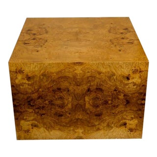 Large Burl Wood Cube by Milo Baughman
